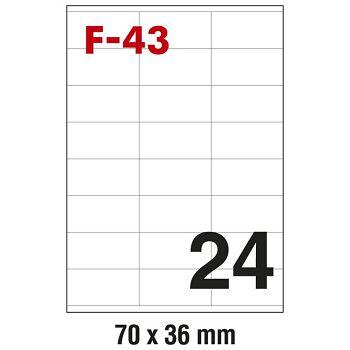Etikete ILK  70x36mm pk100L Fornax F43