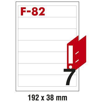 Etikete ILK za registratore 192x38mm pk100L Fornax F82