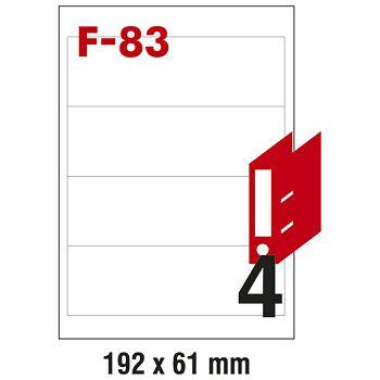 Etikete ILK za registratore 192x61mm pk100L Fornax F83