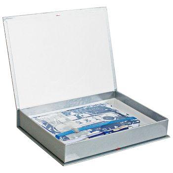 Set poklon notes Lanybook 14x21cm Urban Hero taxi  plavi  olovka kemijska Poly Ball tplava Faber