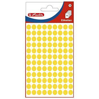 Etikete slep fi 8mm pk4L Herlitz 11296688 žute blister