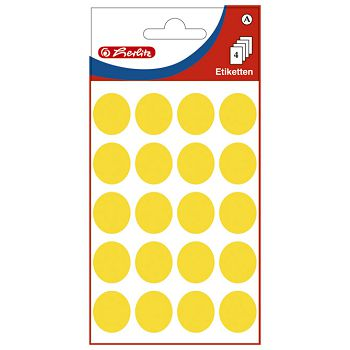 Etikete slep fi19mm pk4L Herlitz 11296738 žute blister