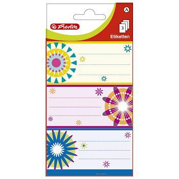 Etikete školske papir cvjetovi Herlitz 830307