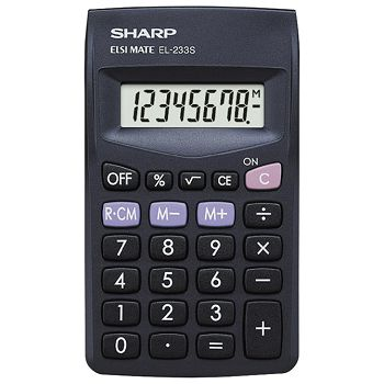 Kalkulator komercijalni  8mjesta Sharp EL233SBBK blister