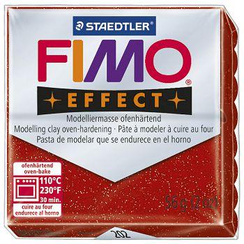Masa za modeliranje   56g Fimo Effect Staedtler 8020202 glitter crvena