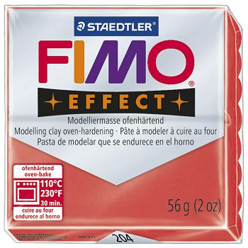 Masa za modeliranje   56g Fimo Effect Staedtler 8020204 prozirno crvena