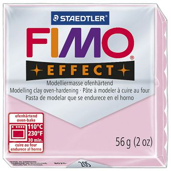 Masa za modeliranje   56g Fimo Effect Staedtler 8020205 pastelno roza