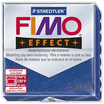 Masa za modeliranje   56g Fimo Effect Staedtler 8020302 glitter plava