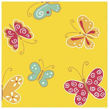 Salvete troslojne 33x33cm pk20 Butterfly yellow Herlitz 11095510