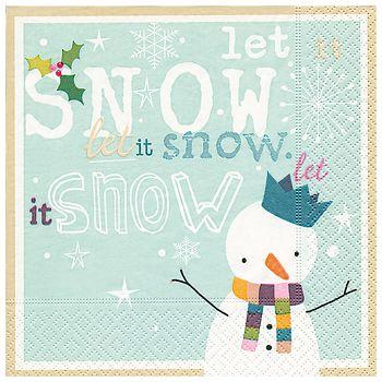 Salvete troslojne 33x33cm pk20 Let it snow Herlitz 40023748
