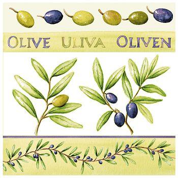 Salvete troslojne 33x33cm pk20 Olives Herlitz 11095171