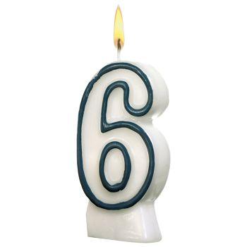 Svijeća rođendanska br6 Herlitz 11142627 blister