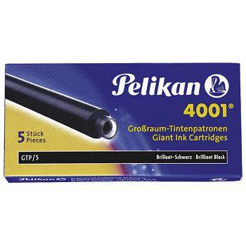 Tinta za nalivpero patrone duge pk5 4001 Pelikan 310615 crna