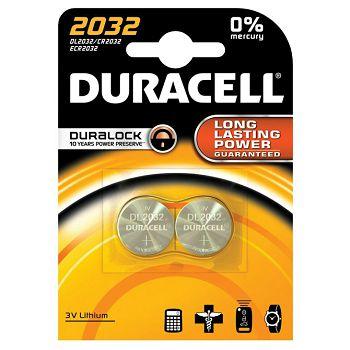 Baterija litij dugmasta 3V pk2 Duracell 2032 blister