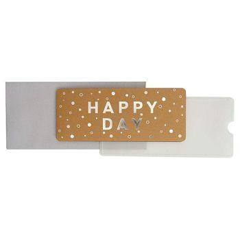 Čestitka 11x23cm Happy day Stewo 6203 75