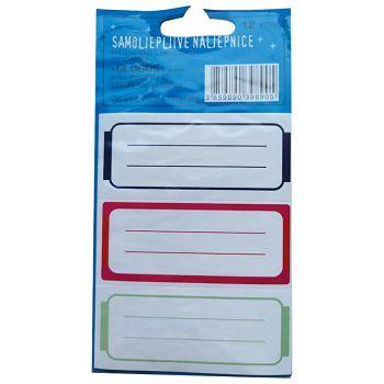 Etikete školske 31x4 linije 2 Glogos sortirano blister