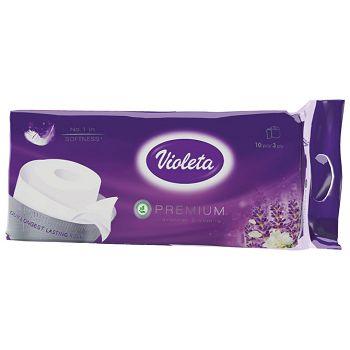 Papir toaletrola troslojni Violeta pk10 miris lavanda  16132