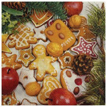 Salvete troslojne 33x33cm pk20 Gingerbread Herlitz 40043661