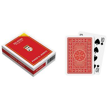 Karte igraće za poker StMoritz extra  Dal Negro crvene