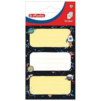 Etikete školske papir svemir Herlitz 50034321 blister