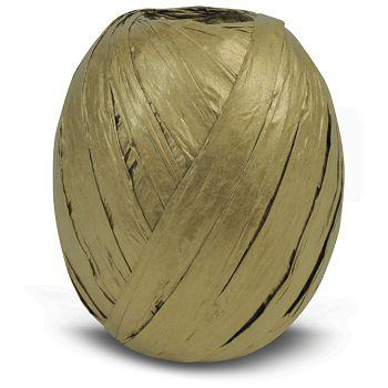 Vrpca ukrasna 10mmx30m rafija Prasent 438634 metalik zlatna
