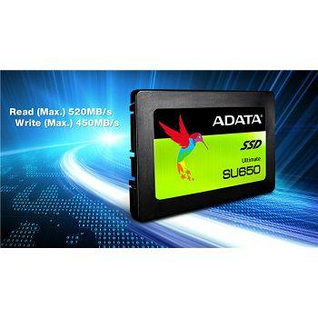 SSD Adata 240GB SU650 SATA 3D Nand