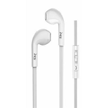 MS SHAKE bijele in-ear slušalice s mikrofonom