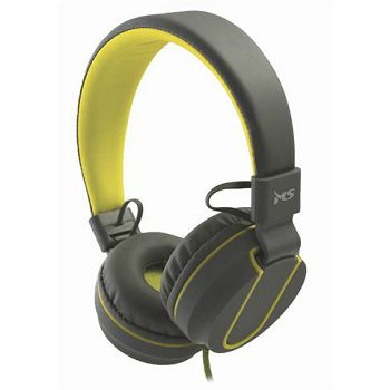 MS FEVER 2 slušalice s mikrofonom, sivo-žuta