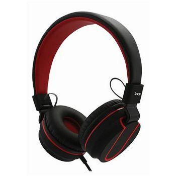 MS FEVER 2 slušalice s mikrofonom, crno-crvena