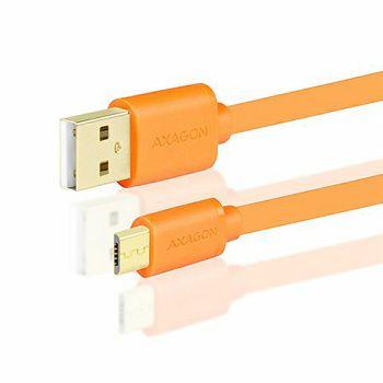 AXAGON BUMM-AM10QO, Kabel USB 2.0 MicroUSB<>USB Type-A,Naran