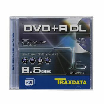 TRAXDATA OPTIČKI MEDIJ DVD+R DUAL LAYER 8X BOX 1