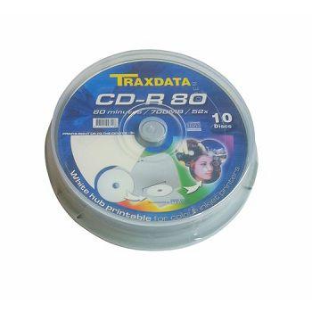 TRAXDATA OPTIČKI MEDIJ CD-R PRINTABILNI CAKE 10