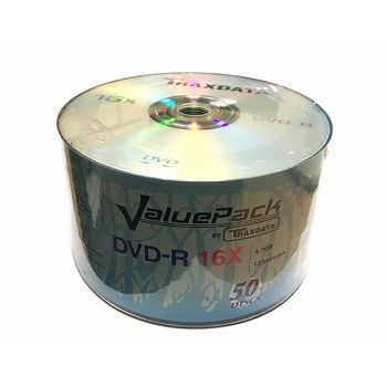 TRAXDATA OPTIČKI MEDIJ DVD-R 16X SPINDLE 50 VALUEPACK