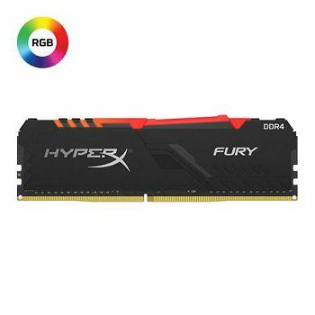 Memorija Kingston DDR4 8GB 2400MHz HyperX Fury Black RGB