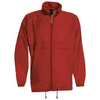 Vjetrovka s kapuljačom zip BC Sirocco crvena 2XL