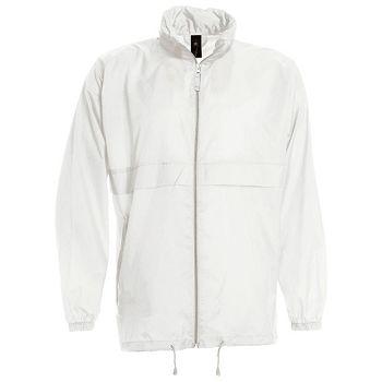 Vjetrovka s kapuljačom zip BC Sirocco bijela L