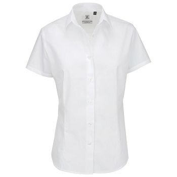 Košulja ženska kratki rukavi BC Heritage 120g bijela M