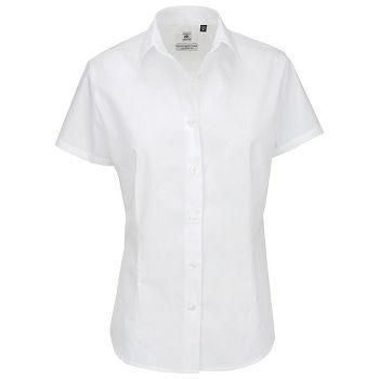 Košulja ženska kratki rukavi BC Heritage 120g bijela L
