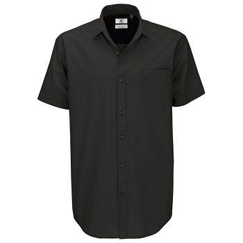 Košulja muška kratki rukavi BC Heritage 125g crna L