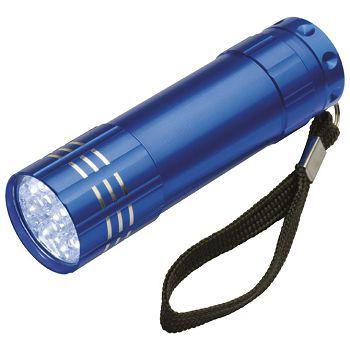 Svjetiljka ručna  9 LED metalna plava