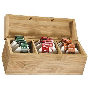 Kutija za čaj od bambusa