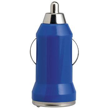 Punjač za auto aluminijskiABS Midoceanbrands MO804304 plavi