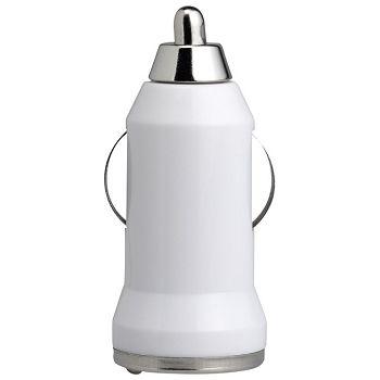 Punjač za auto aluminijskiABS Midoceanbrands MO804306 bijeli