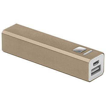 Punjač za mobilne uređaje aluminijski prijenosni Midoceanbrands MO860219 zlatni