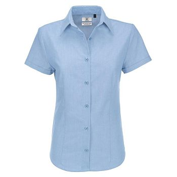 Košulja ženska kratki rukavi BC Oxford 135g oxford plava 4XL