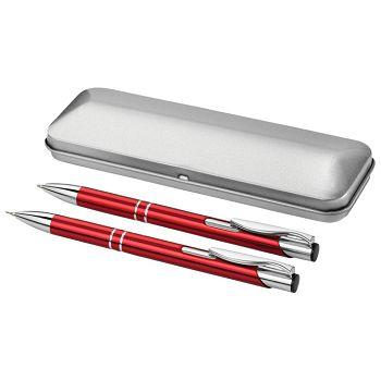 Garnitura olovka kemijska  olovka tehnička u metalnoj kutiji PF Concept 10619902 crvena  150