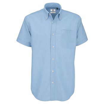 Košulja muška kratki rukavi BC Oxford nebo plava XL